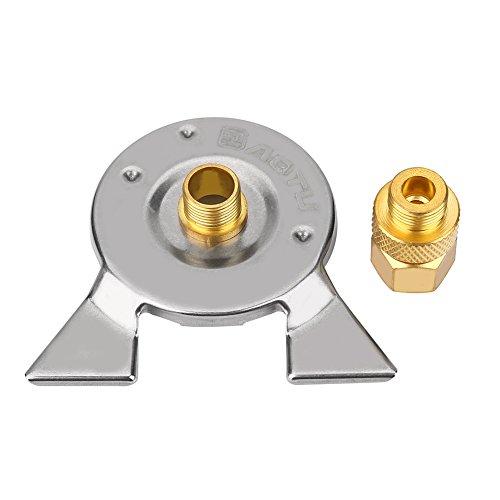 VGEBY Gas Tank Konverter, Mini Herd Brenner Adapter Propan Gasgrill Stecker Adapter Kopf + Adapter Basis + Aufbewahrungstasche