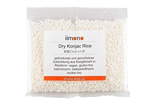 iimono Dry Konjac Rice - kalorienarmer & kohlenhydratarmer Konjak-Reis (1 x 200g)