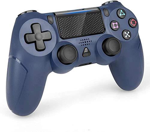 Wireless Controller für PS4, Wireless Game Controller für PS4/Pro/Slim Konsole mit Dual Vibration/6-Achsen Gyro Sensor/Audio-Funktion (Blau)