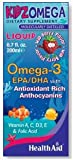 KidzOmega Liquid with EPA/DHA, 6.7 Fl, Wild Berry Flavor, Contains Vitamin A, C, D3, E & Falic Acid