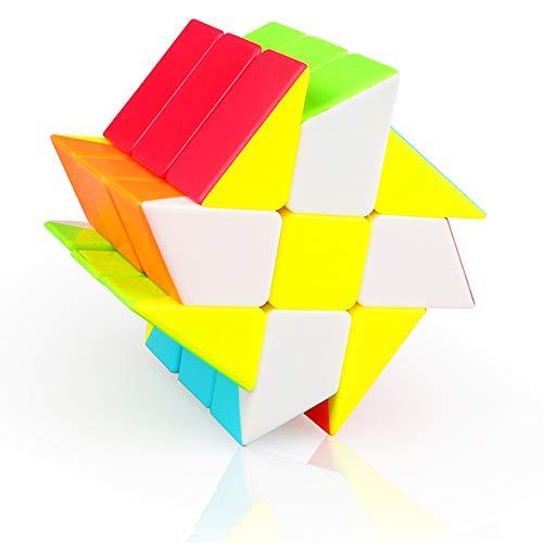 TOYESS Fenghuolun 3x3 Cubo Mágico Wheel Juguete de Rompecabezas para Niños y Adultos, Stickerless