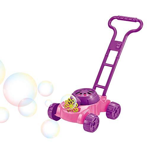 Waroomss Seifenblasen Rasenmäher Gartenspielzeug Für Kinder Seifenblasenmaschine Spielzeug Für Baby Kinder Bubble Maschine Outdoor Spielzeug Für Jungen Mädchen Empfohlenes Alter 2-6 Jahre Alt