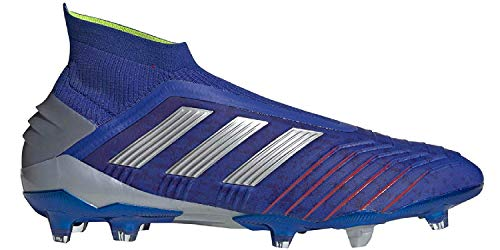 adidas Men's Predator 19+ Soccer Cleats (8.5, Blue/Silver)