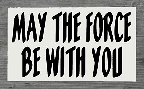 Star Wars May The Force Be With You svart bildekal vinyl fönsterklistermärke – endast en P&P laddning per AERIALBALLS-beställning! Spara pengar genom att köpa 2 eller fler av våra många mönster.