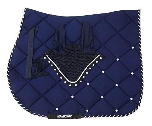 Gallop Shop General Saddle Pad Diamante Saddle Pad Numnah Cloth Cob