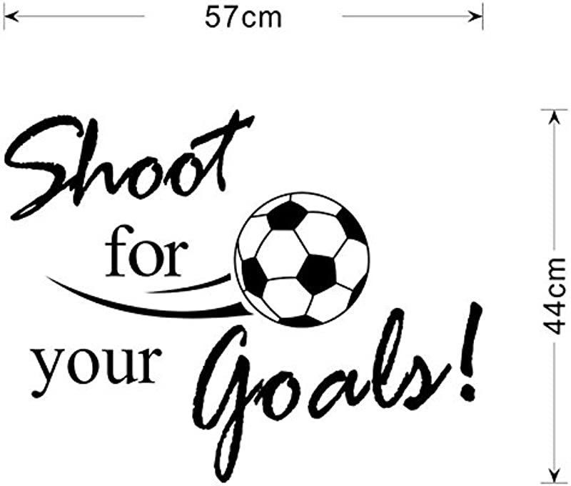 Yu2d New Shoot For Your Goals Football Soccer Removable Decal Wall Sticker Home Decor