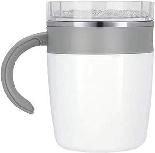 LONGDONG マグカップ かき混ぜ 自動かくはんマグカップ スピンカップ ステンレス鋼 防錆 耐久性 強磁気 自動攪拌 コーヒー 飲料 お茶 牛乳 蓋付き 高い気密性 漏れ防止 滑り止め 保温 安全 軽量 持ち運びが簡単 掃除が簡単 家庭 ...