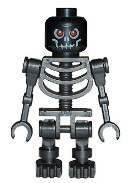 LEGO Skeleton (Black) Castle Minifigure