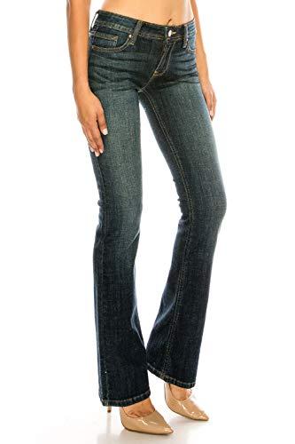 Eunina Jeans   Womens Basic Slim Bootcut Jeans (15) ,99 Dark