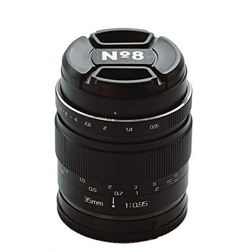 No8 35 mm f095 Lente Manual, Compatible con Montura Sony E, Extremadamente Brillante, excelente Bokeh para Retratos, fotografía callejera y de Comida