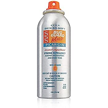 Avon SSS Bug Guard Plus Picaridin Aerosol Spray 4 Oz.