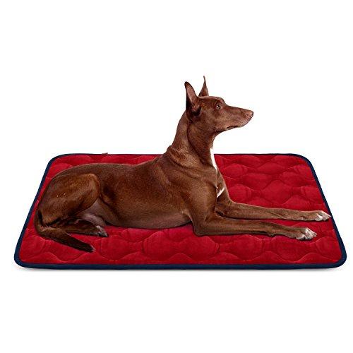 Weiche Hundebett Große Hunde Luxuriöse Hundedecken Waschbar Orthopädisches Hundekissen rutschfeste Hundematte Rot Grosse HeroDog