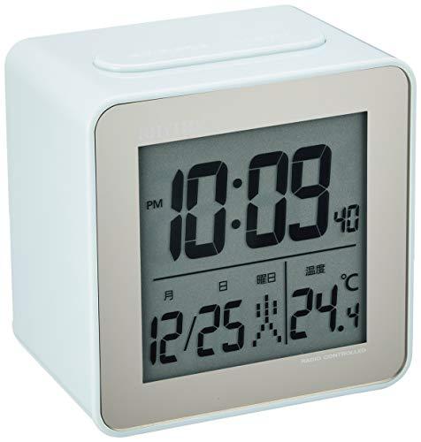 リズム(RHYTHM) 置き時計 電波時計 目覚まし時計 フィットウェーブD158 デジタル 温度 カレンダー RHYTHM PLUS 8RZ158SR04