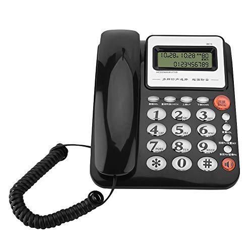 Tonysa Schnurgebundenes Festnetztelefon, Desktop Telefon mit Anrufbeantworter, Anrufer ID Display Tischtelefon, Schnurtelefon mit Freisprechung für Büros, Wohnungen