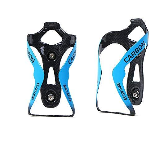 QIKU Fahrrad flaschenhalter Ultraleicht 3K Carbon MTB/Rennrad Getränkehalter (Blau Gloss)