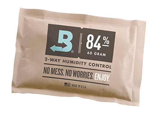 Boveda for Cigars | 84% RH Humidity Control Pack for Humidor Seasoning | Size Large for Use with 25- to 100-Count Cigar Humidors | Properly Seasons a Wood Humidor in 14 days | 1-count