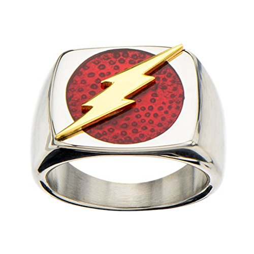 INOX Heroes in Action DC Comics - Anello con logo in acciaio INOX (9)