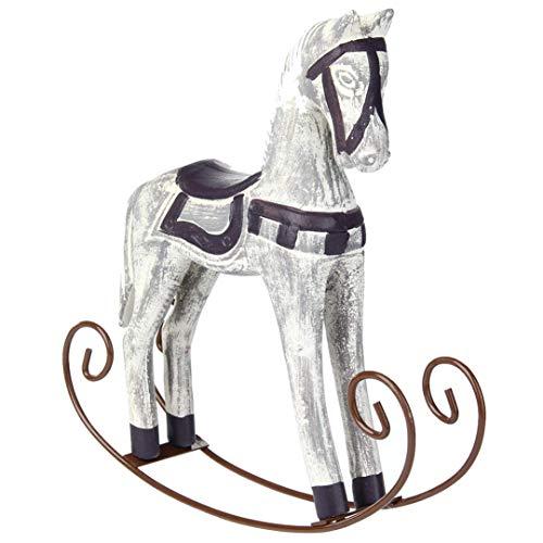 ZOZOSEP Wedding Retro Decorazione Domestica Accessori Dondolo Decor Legno Cavallo dell'ornamento Regalo Trojan Horse Statue