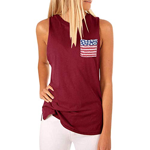 Women 29th of July American Flag Shirts Striped Short Sleeve Ladies Tops