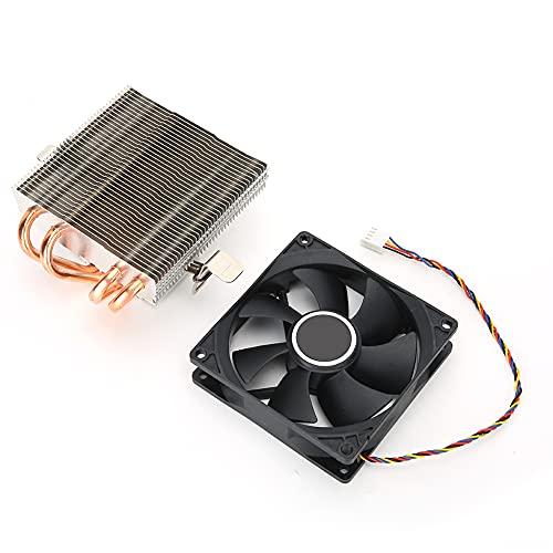 Enfriador de Aire de CPU, Enfriador de CPU, con 4 heatpipes de Alto Rendimiento Hechos de latón Puro, Enfriador de PC Adecuado para AMD 775/1150/1151/1155/1156/1366, fácil de Instalar.
