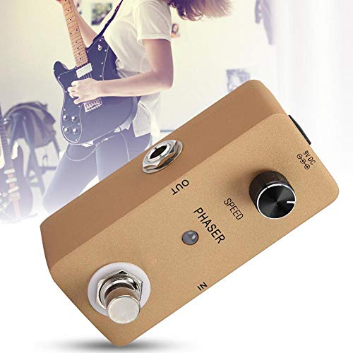Procesador de efectos Phaser de metal/plástico, pedal de
