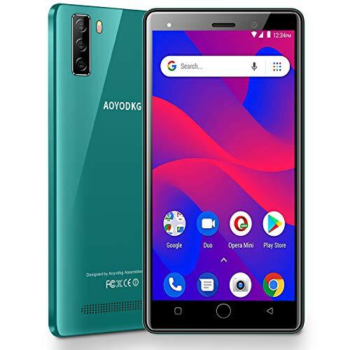 Smartphone Offerta del Giorno 4G Android 9.0, A10+(2020) 5.0 '' HD+ Schermo, 16GB ROM/128GB 8MP+5MP Telecamera Telefoni Cellulari, 3400mAh Dual SIM WIFI Bluetooth GPS Telefonia Mobile (Verde)