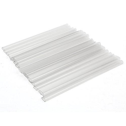 FullBerg 24 Stück PVC Sichtschutzstreifen Transparent Befestigungsclips Sichtschutz Klemmstreifen