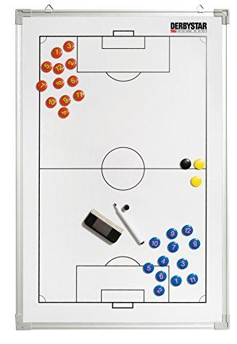 Derbystar -Pallone da Calcio Lavagna Tattica in Alluminio 90 X 60 Cm Colore Bianco, Standard
