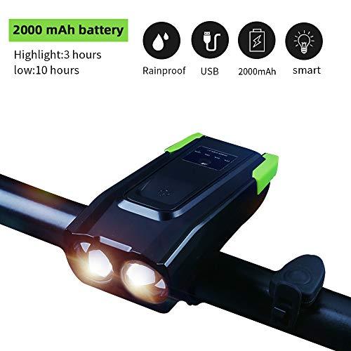 WAINEO Luz De Bicicleta LED USB - 4 Modos Luces De Bicicleta USB 800 Lúmenes Faros Impermeables Súper Brillantes Se Adapta a Todas Las Bicicletas