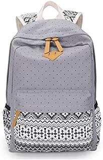 Asdfnfa Korean Women's Travel Backpack Canvas Bag Student Bag (Color : Gray)