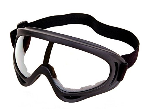 4 Goggles / Lot - Black + Clear + Amber + Yellow Multi Use Motorcycle Riding Snowboard Airsoft Protective Goggles Safety Glasses Sport Ski Airsoft Paintball