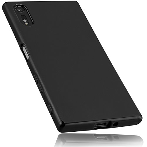 mumbi Hülle kompatibel mit Sony Xperia XZ / XZs Handy Hülle Handyhülle, schwarz