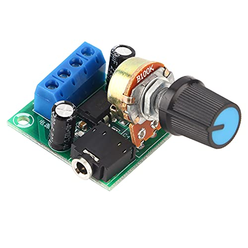 LM386 Super MINI Verstärkerplatine, 3V-12V Leistungsverstärker Rauscharmer Stromverbrauch für Lautsprecher-Soundsystem DIY