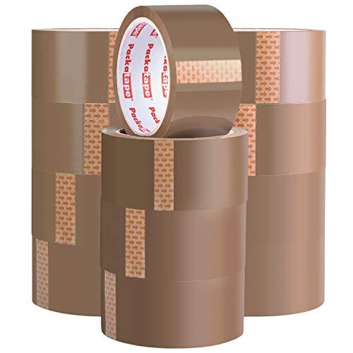 Packatape | Paketklebeband braun | 66m lang & 48mm breit | Ideal als Klebeband, Paketband, Verpackungsmaterial & Packband | 12 Rollen