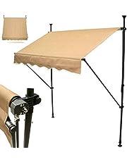D&L Luifel klemluifel 300 cm balkonluifel zonwering zonnezeil 56019 dak
