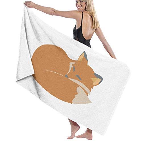 LREFON Toallas de baño Fox Toalla de Ducha de Secado rápido a la Moda Toalla de baño de Playa Suave con Personalidad (31.5X51.2 Pulgadas)