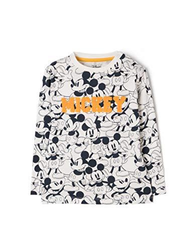 ZIPPY Mickey Camiseta de Manga Larga, Blanco (Cloud Dancer 11/4201 TC 548), 74 (Tamaño del Fabricante:6/9M) para Bebés