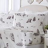 Micro Fleece Extra Soft Cozy Velvet Plush Printed Sheet Set. Deluxe Bed Sheets with Deep Pockets. Velvet Luxe Collection (Queen, Polar Bears)