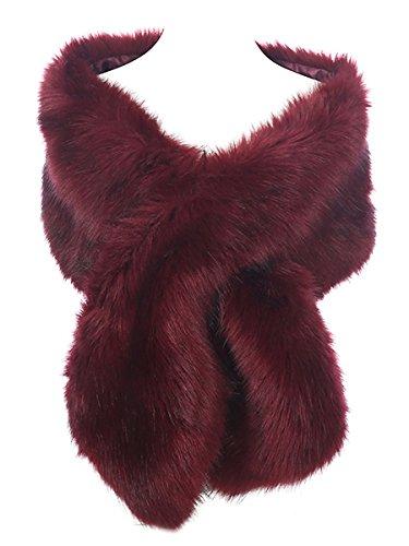 Hot Style Zone - Estola - mujer rojo Wine Large