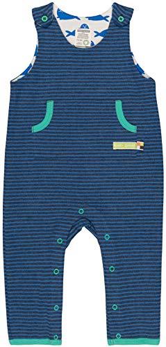 loud + proud Baby-Unisex Ringel Aus Bio Baumwolle, GOTS Zertifiziert Strampler, Blau (Midnight Mi), 80 (Herstellergröße: 74/80)