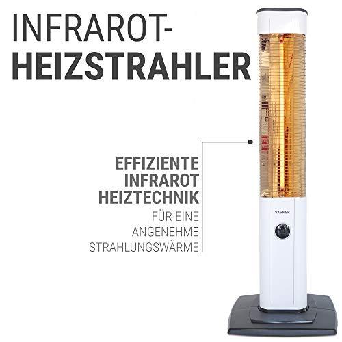 VASNER StandLine 25R Infrarot Stand-Heizstrahler – weiß – 2500 Watt, Terrassenstrahler elektrisch - 8