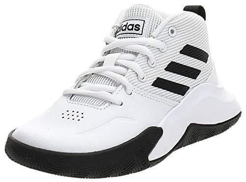 adidas Jungen Unisex-Kinder Ownthegame K Wide Basketballschuhe, Weiß (Ftwbla/Negbás/Ftwbla 000), 31 EU