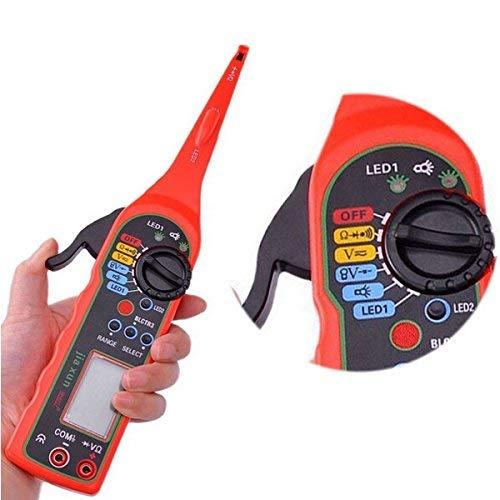 Lumière de test de circuit, multimètre de testeur de circuit de test de circuit Lampe de réparation de voiture Multimètre électrique automobile 0V-380V de tension