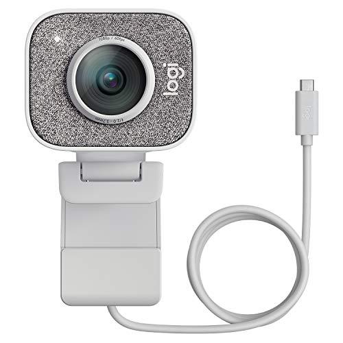 Logitech StreamCam per Streaming Live e Creazione di Contenuti, Video verticale in Full HD 1080p a 60 fps, Opzioni di montaggio versatili, con USB-C, per YouTube, Gaming Twitch, PC/Mac, Bianco