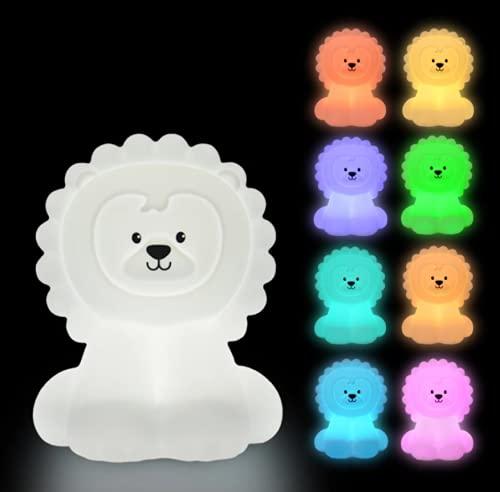 Dibujos Animados Animales León Colorido Led Noche Luz USB Recargable Decoración Regalo