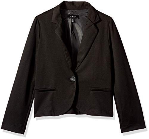 Amy Byer Girls' Perfect Little Blazer, Black, L