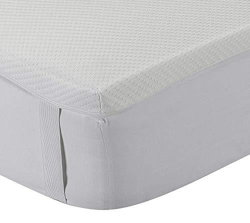 Classic Blanc - Topper/Sobrecolchón viscoelástico 5 cm, con funda lavable y tratamiento Aloe Vera, firmeza media. 80x190cm-Cama 80 (Todas las medidas)