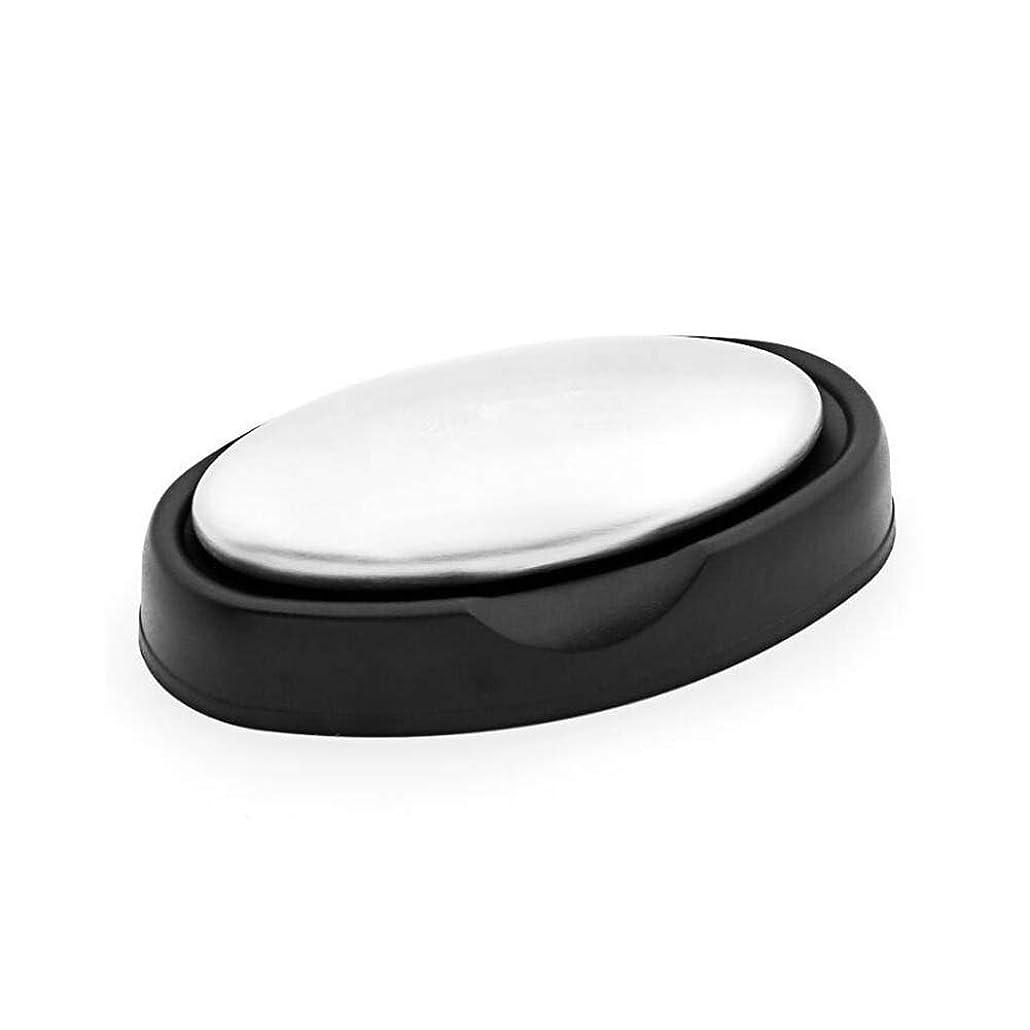 頭ハードリング商人Alioay ステンレスソープ ステンレス石鹸 円形 臭い取り 石鹸 魚臭を取り除く 実用的な台所用具 台座付き