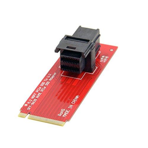 JSER U.2 U2 Kit SFF-8639 NVME PCIe SSD Adapter für Hauptplatine Intel, 750 p3600 p3700 M.2 SFF-8643 Mini SAS HD