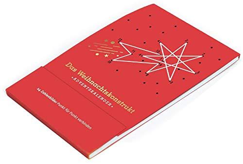 Das Weihnachtskonstrukt: 24 Zahlenbilder Punkt für Punkt verbinden